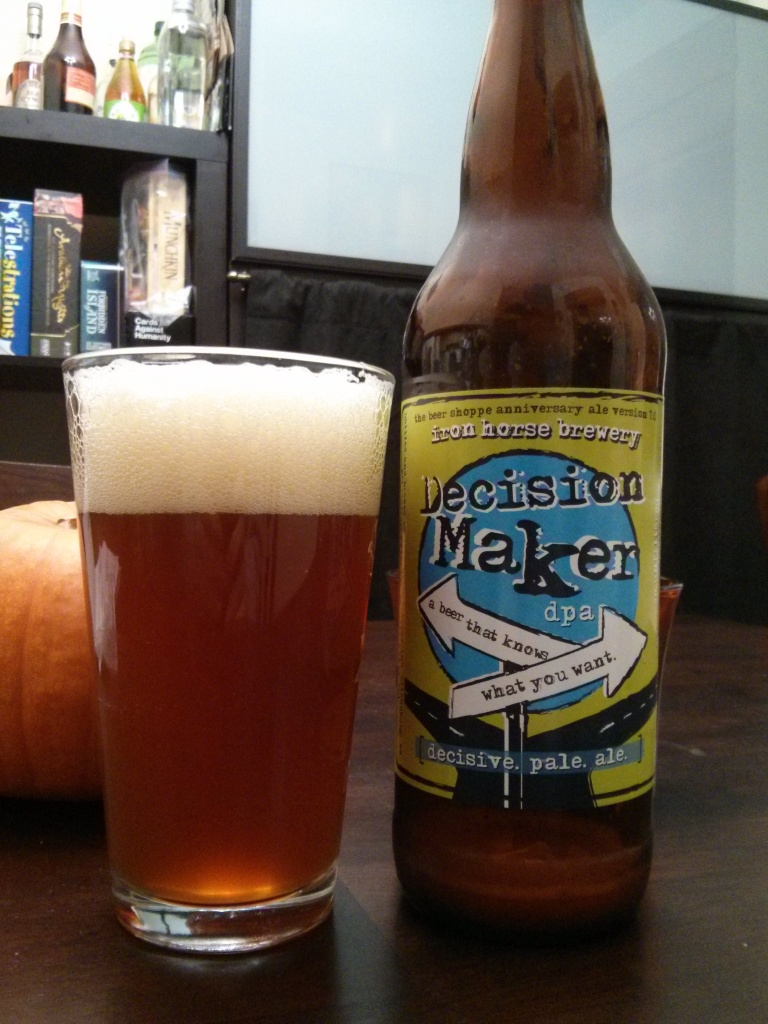 Iron Horse Brewery's Decision Maker Pale Ale - Photo credit: Lindsey Scully