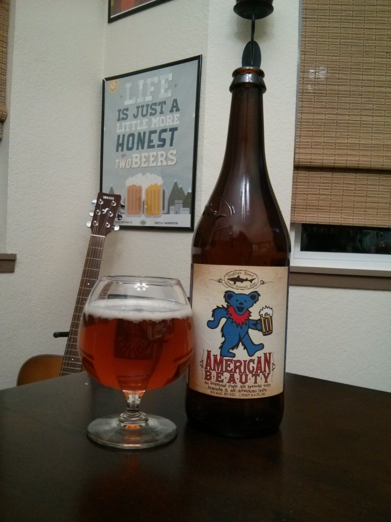 Beer Advent Day 6 – Dogfish Head's American Beauty – Photo credit: Lindsey Scully