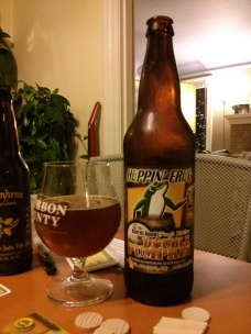 Beer Advent Day 7 – Hoppin' Frog's Hollow Double Pumpkin Ale – Photo credit: Lindsey Scully