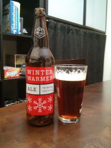 Beer Advent Day 8 – No-Li Brewing's Winter Warmer – Photo credit: Lindsey Scully